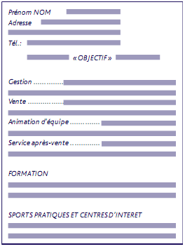 CV fonctionnel
