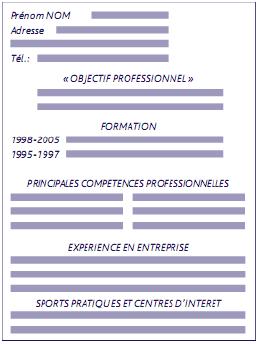 CV débutant